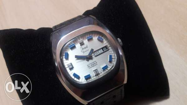 """Vintage Swiss 1970's SS """" Jead Geneve """" Day Date Automatic - Excellent"""