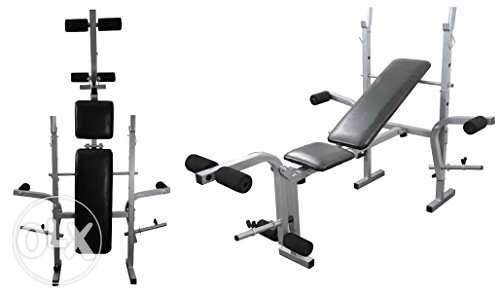 chest bench with 35 kg and axe