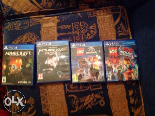 4 Ps4 games. (two for one)