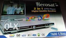 HeroSat 2 in 1 DVD Player & Receiver for Sale