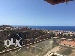 Bchamoun New Apartment for Sale - Full Sea View بشامون - شارع المدارس