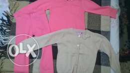leggings, t-shirt and cardigan juniors size 2-3 years