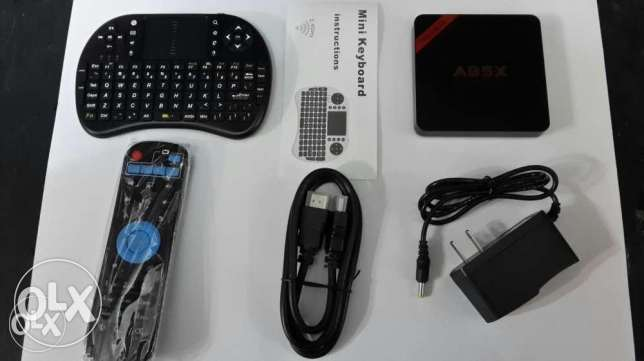 Android tv box with mini bluetooth keyboard