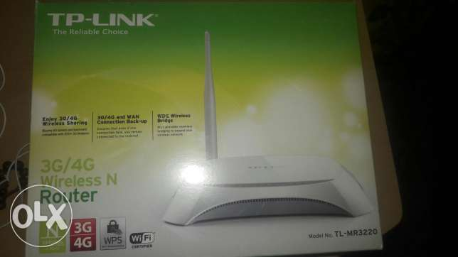 Tplink TL-MR3220 3G/4G Wireless and router