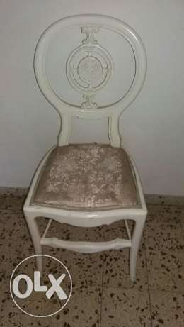 white chair with design