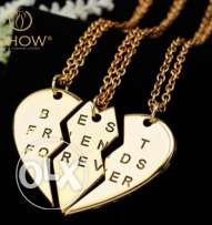Heart Necklace 3 pieces gold plated