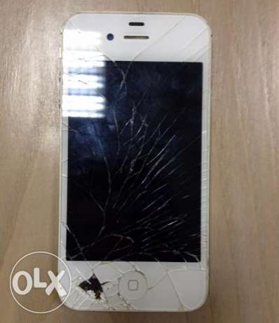 iPhone 4S Shattered From Both Sides For Sale!