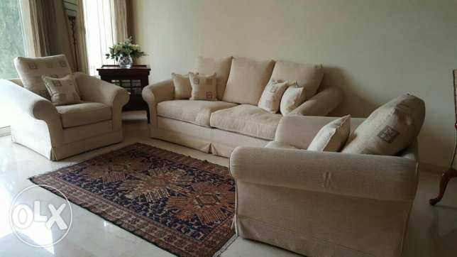 Three sofa made by sleep comfort بعبدا -  1