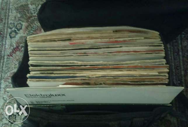 60 house records in gig bag