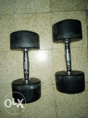 Workout set with bench and 120 kg weight