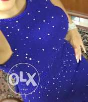 blue dress with shinng Swarovski shinning elements