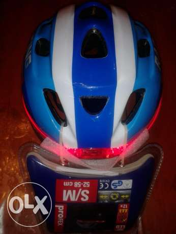 profex professional bike helmet with led light back made in germany