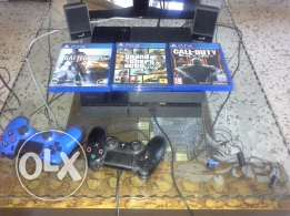 Sell Ps4 1TB + Games Online 7 months + 3 games + 2 joystick
