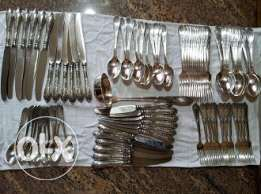 Old Classical Silver Cutlery Set