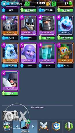 clash royal 25er level 8 arena 9 bi 50$