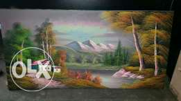 Oil painting tableau Wood hand made 122/61 for sale
