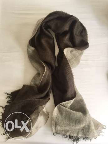 Furla virgin wool scarf with 3 layers of colors