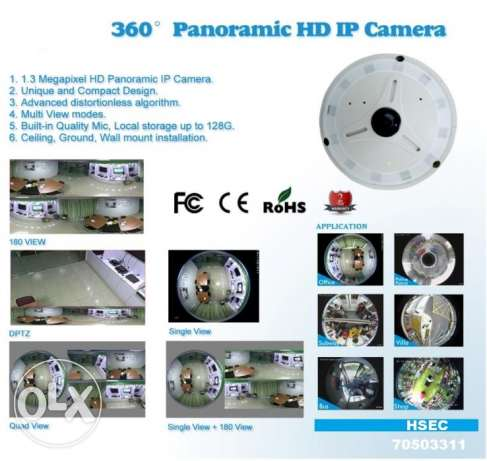 360' HD IP Panoramic Camera