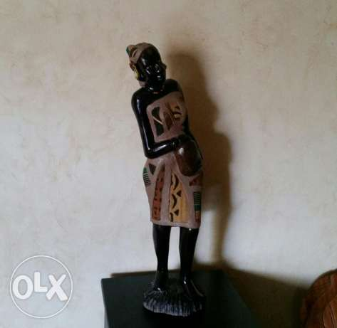 statue wood & dress 70 cm