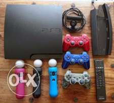 PS3 Sony Playstation (Excellent Condition)+3 controller +wheels etc..