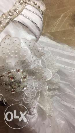 wedding dress excellent condition عرمون -  3