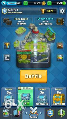 Clash Royale 6 legendaries account!