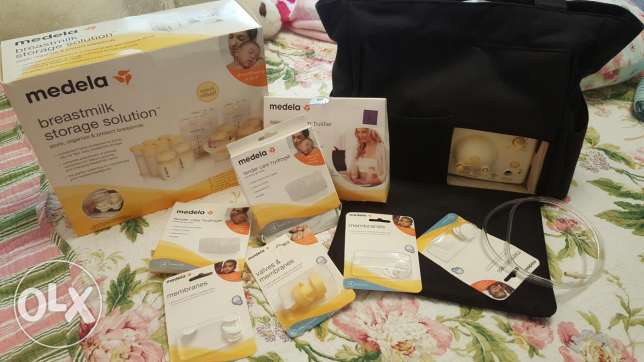Medela electric double pump, Storage Solutions & Bra for easy express كسروان -  1