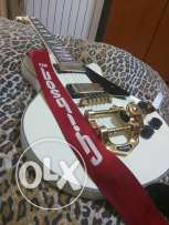 Stagg L400 modified emg humbukers neck though buddy