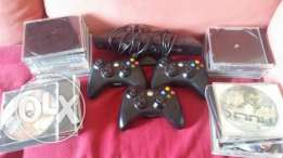 xbox 360 camera+3 controllers + cds,the xbox is not included