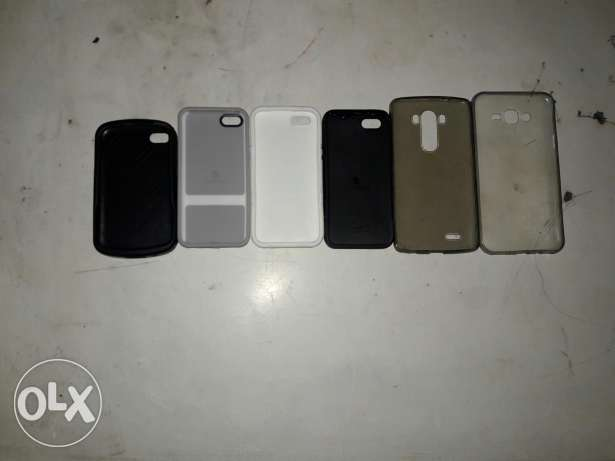 6 covers iphone 5 5s , blackberry q10 , lg g3 , samsung j7