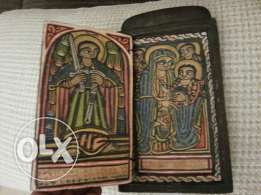 3 pieces of old copte icons hand painted
