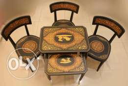set of marquetry chairs