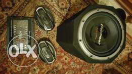 Sound system bazooka power speakers