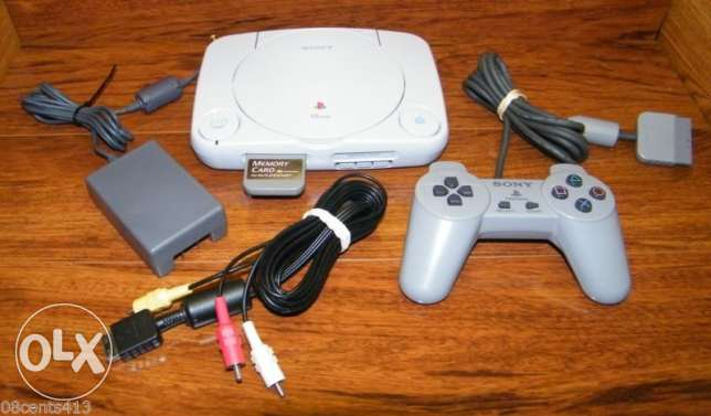psone + controller + cables v.good condition
