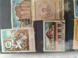 Album of old different stamps