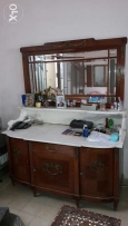 120 years old 2 antique dressoirs with marble top.