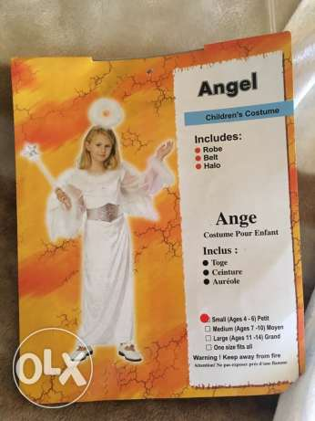 Angel costume 5pcs. small ages 4-6