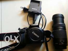 Used 500D canon + 18 55 mm and 75 300 mm lens for 430 $