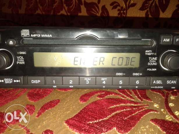 for sale radio cd mp3 wma honda النبطية -  2