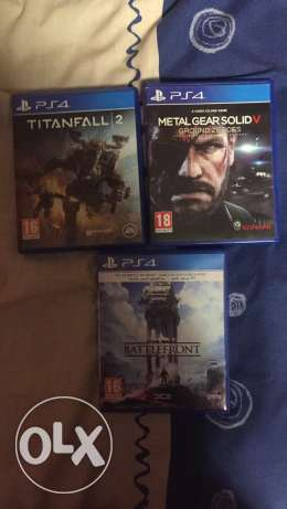 For trade Titanfall 2 - metal gear solid - starwars for ps4 like new