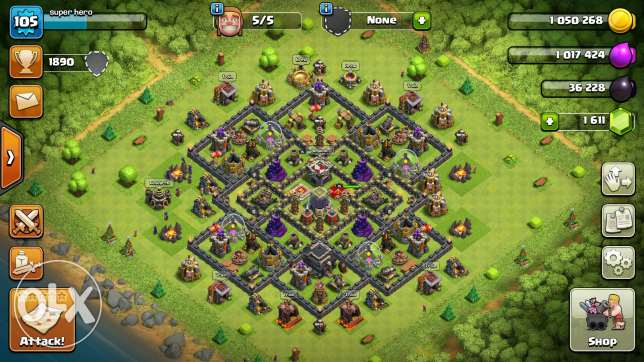 clash of clan th9 max