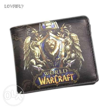The World of Warcraft Leather Slim Wallet WOW Alliance For Men