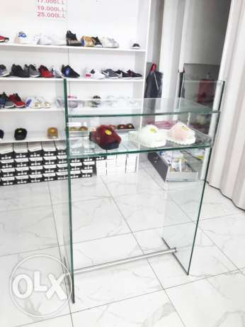glass desk 12mm securite with drawer