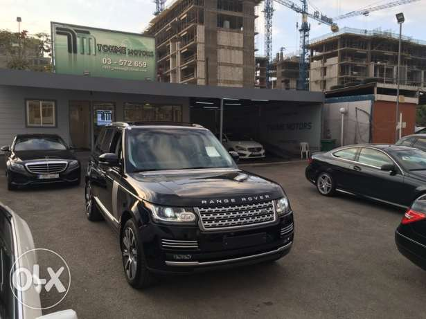 Range rover Vogue supercharged SE 2014 night blue on blue, GERMAN !!! انطلياس -  1