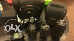Camera nikon D90 full package 3 lens 1 flash 2 bags 2 tripod