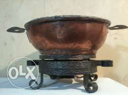 Antique heavy Cassrole, red copper, more than 150 years old