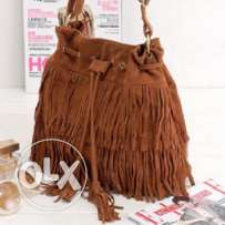 Suede fringe tassel handbag (3 photos - 3 colors) 16
