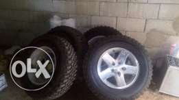 9 tires in good condition used 1 month only