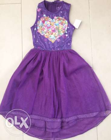 Shopkins dress. size: 6yrs and 7/8 yrs