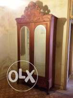 Antique wardrobe with St Gobain mirrors